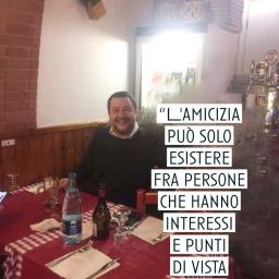 Salvini e l'amicizia