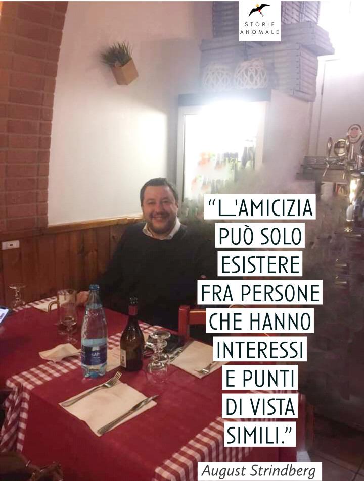 Matteo Salvini in taverna